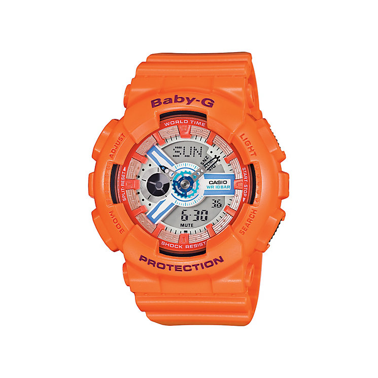 Casio Baby-G ladies' orange rubber strap watch - Product number 3588696