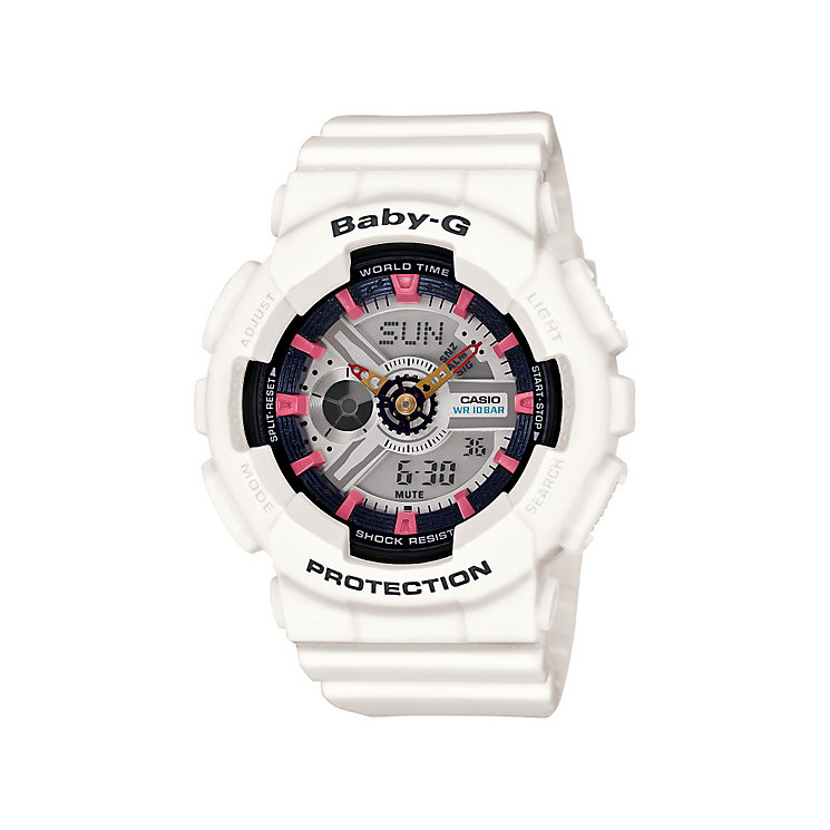 Casio Baby-G ladies' white rubber strap watch - Product number 3588718