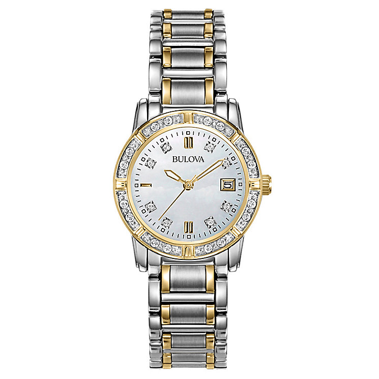 Bulova gallery ladies' two colour silver dial bracelet watch - Product number 3588750