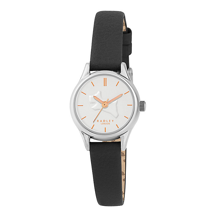 Radley On The Run Ladies' Black Leather Strap Watch - Product number 3588920