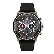 Bulova Marine men's ion-plated leather strap watch - Product number 3589145