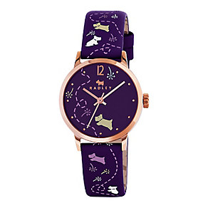 Radley Meadow Ladies' Purple Dial Purple Leather Strap Watch - Product number 3589188