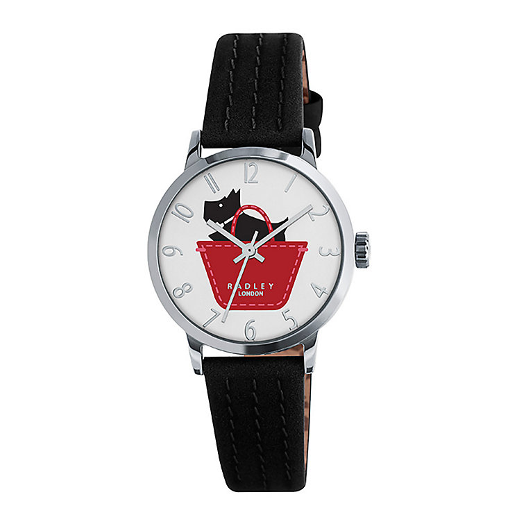 Radley Border Ladies' Black Leather Strap Watch - Product number 3589234