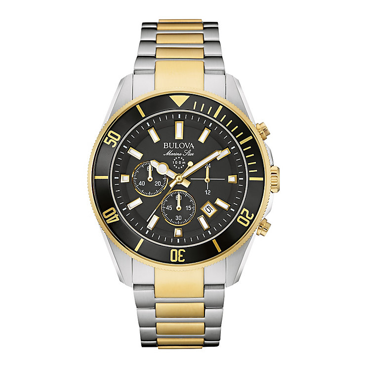 Bulova Marine Men's Two Colour Bracelet Watch - Product number 3590046