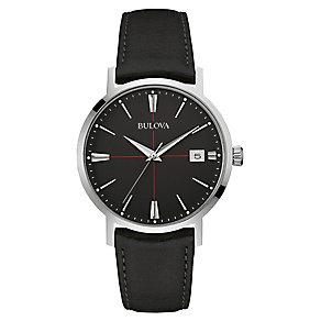Bulova Aerojet men's stainless steel black strap watch - Product number 3590070