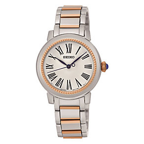 Seiko Ladies' Two Colour Stainless Steel Bracelet Watch - Product number 3590097