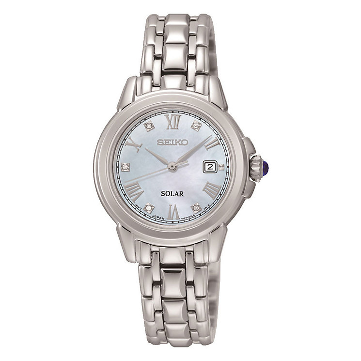 Seiko Solar Ladies' Stainless Steel Bracelet Watch - Product number 3590119