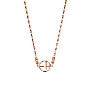 Emporio Armani Rose Gold Tone Stone Set Necklace - Product number 3590380