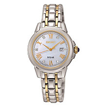 Sekio Ladies' Solar Mother Of Pearl & Diamond Watch - Product number 3590402