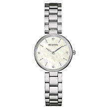Bulova Diamond Gallery ladies stainless steel bracelet watch - Product number 3592820