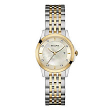 Bulova Diamond Gallery Ladies' Two Colour Bracelet Watch - Product number 3592871
