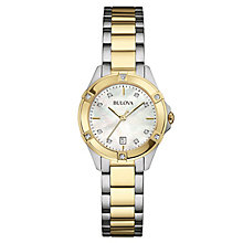 Bulova Diamond Gallery ladies' two colour bracelet watch - Product number 3592936