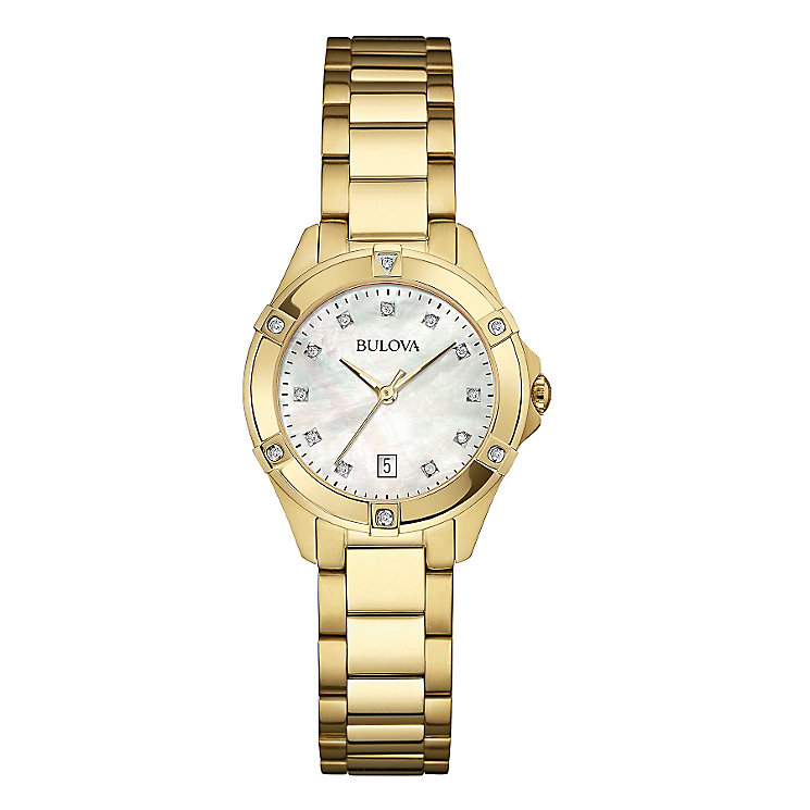 Bulova Diamond Gallery Ladies' Gold-plated Bracelet Watch - Product number 3592952