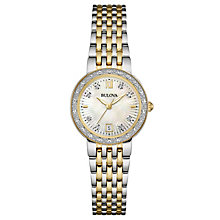 Bulova Diamond Gallery ladies' two colour bracelet watch - Product number 3593282