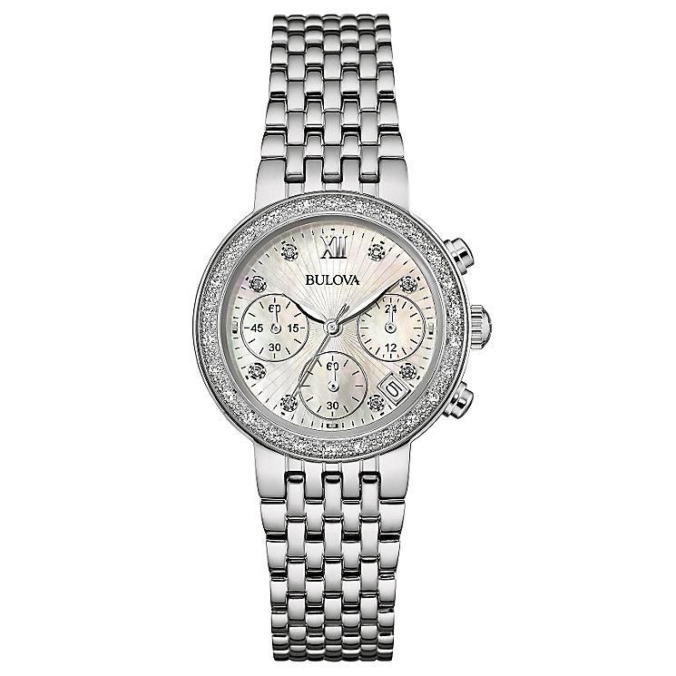 Bulova Diamond Gallery ladies' stainless steel watch - Product number 3593606
