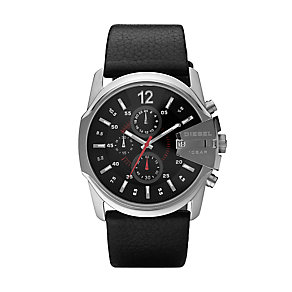Diesel Men's Stainless Steel & Black Leather Watch - Product number 3595234