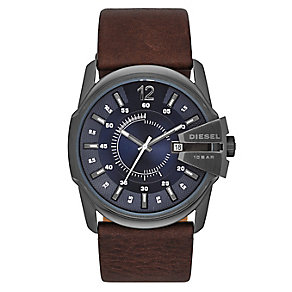 Diesel Men's Blue Dial & Brown Leather Watch - Product number 3595250