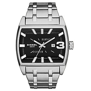 Diesel Men's Rectangular Dial Stainless Steel Watch - Product number 3595439
