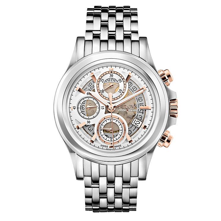 Bulova Kirkwood men's two colour bracelet watch - Product number 3595536