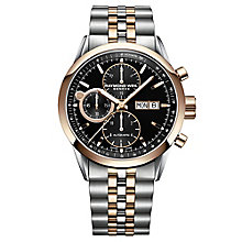 Raymond Weil Men's Two Colour Chrome Bracelet Watch - Product number 3595609