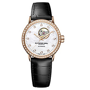 Raymond Weil Freelancer ladies' rose gold-plated watch - Product number 3595692