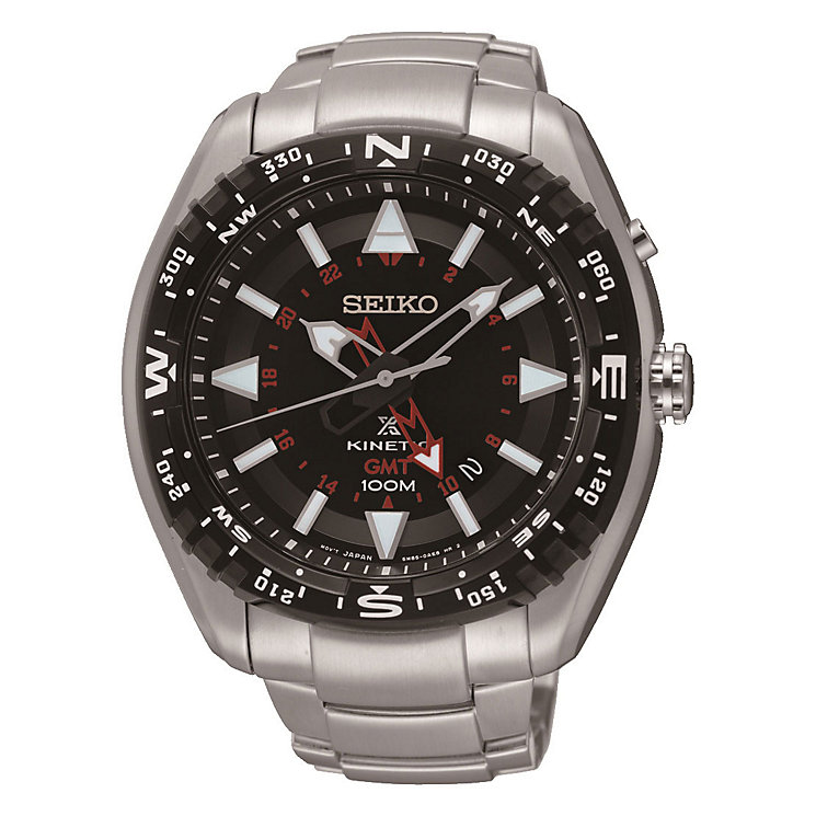 Seiko Kinetic GMT Men's Stainless Steel Bracelet Watch - Product number 3595854