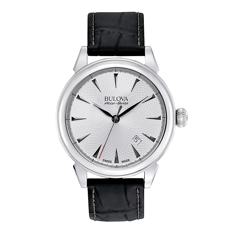 Bulova Gemini men's stainless steel leather strap watch - Product number 3595919