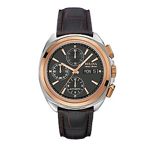 Bulova Telc men's two colour black strap watch - Product number 3596028