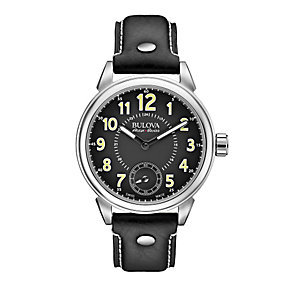 Bulova Military men's stainless steel black strap watch - Product number 3596044