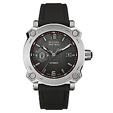 Bulova Percheron men's stainless steel leather strap watch - Product number 3596095