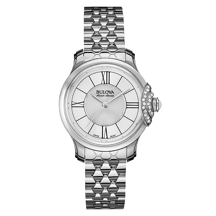Bulova Bellecombe ladies' stainless steel bracelet watch - Product number 3596117
