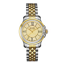 Bulova Belle ladies' two colour stone set bracelet watch - Product number 3596133
