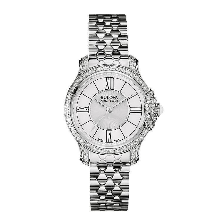 Bulova Belle ladies' stainless steel diamond bracelet watch - Product number 3596141