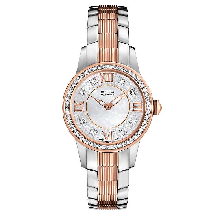 Bulova Masella ladies' two colour diamond bracelet watch - Product number 3596176
