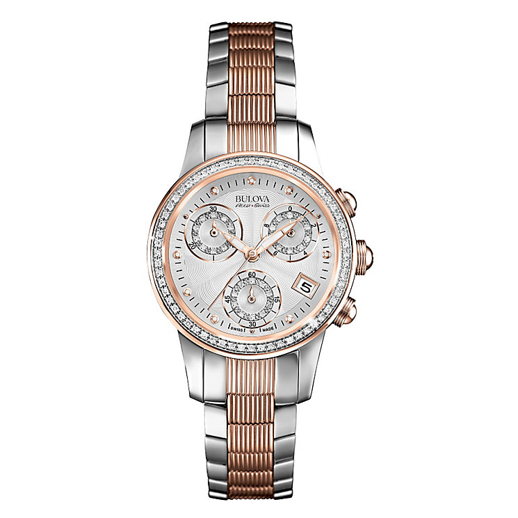 Bulova Masella ladies' two colour diamond bracelet watch - Product number 3596184