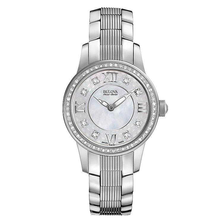 Bulova Masella ladies' stainless steel bracelet watch - Product number 3596214