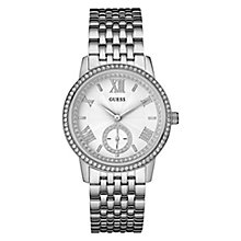 Guess Ladies' Stainless Steel & Stone Set Bracelet Watch - Product number 3596249