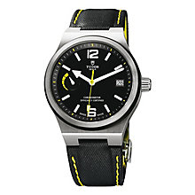 Tudor Men's Stainless Steel Black Dial Strap Watch - Product number 3596559