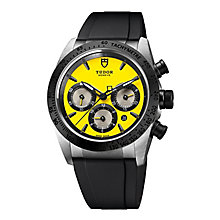 Tudor FastRider men's yellow dial black rubber strap watch - Product number 3596621