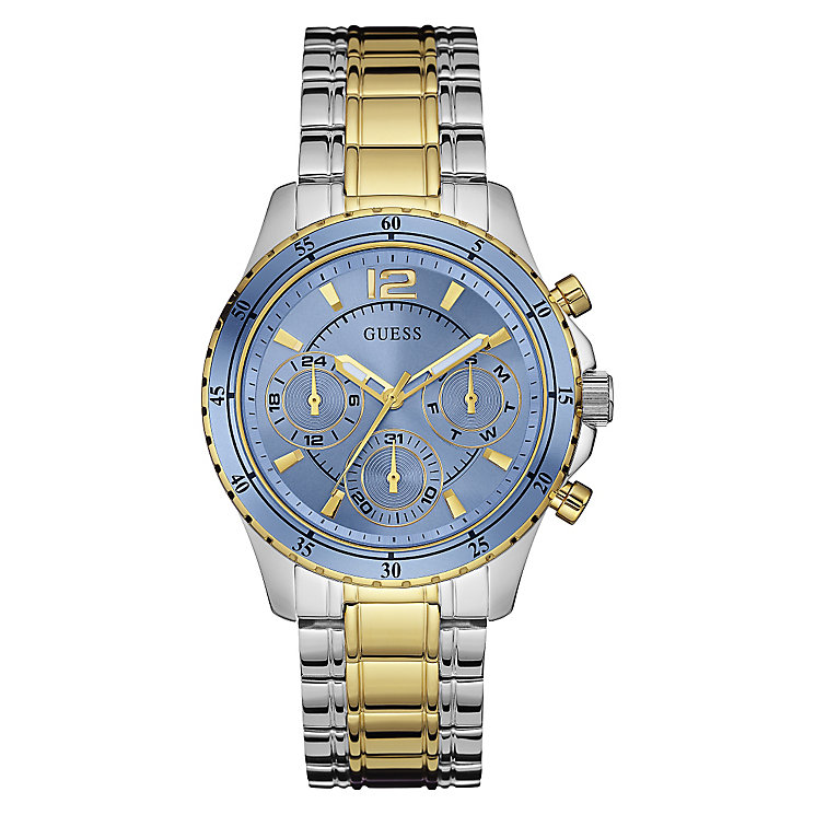 Guess Ladies' Blue Dial & Two Tone Bracelet Watch - Product number 3596699