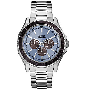 Guess Ladies' Blue Dial & Stainless Steel Bracelet Strap - Product number 3597849