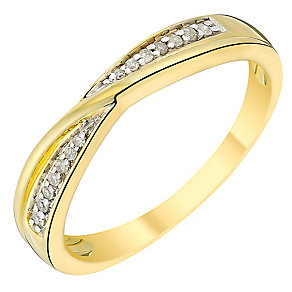 9ct gold diamond crossover band - Product number 3599736