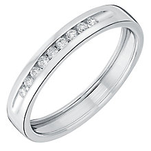 18ct white gold diamond shaped band - Product number 3600173