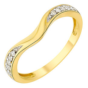 18ct gold diamond shaped band - Product number 3600319
