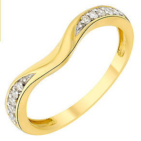 9ct gold diamond shaped band - Product number 3600688