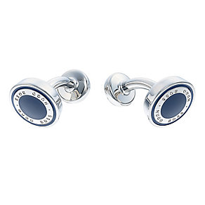 Hugo Boss Barry Navy Round Cufflink - Product number 3600939