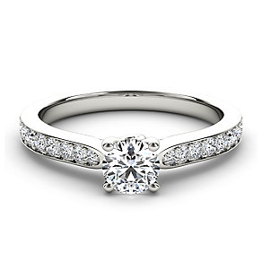 Arctic Brilliance 18ct white gold half carat diamond ring - Product number 3602192