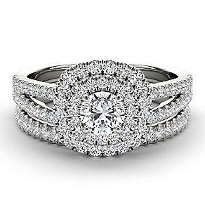 Arctic Brilliance 18ct white gold 1ct diamond bridal set - Product number 3602826