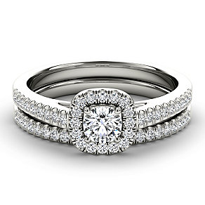 Arctic Brilliance 18ct white gold 0.50ct diamond bridal set - Product number 3603059