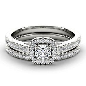 Arctic Brilliance 18ct white gold 0.50ct diamond bridal set - Product number 3603059
